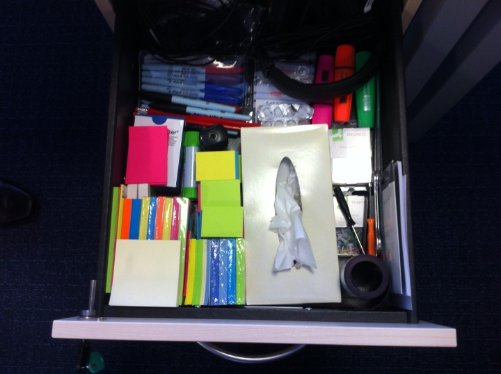 Can you tell a ScrumMaster just by the contents of his desk drawer?